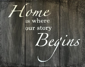 Sandy Laipply Home is where our story begins