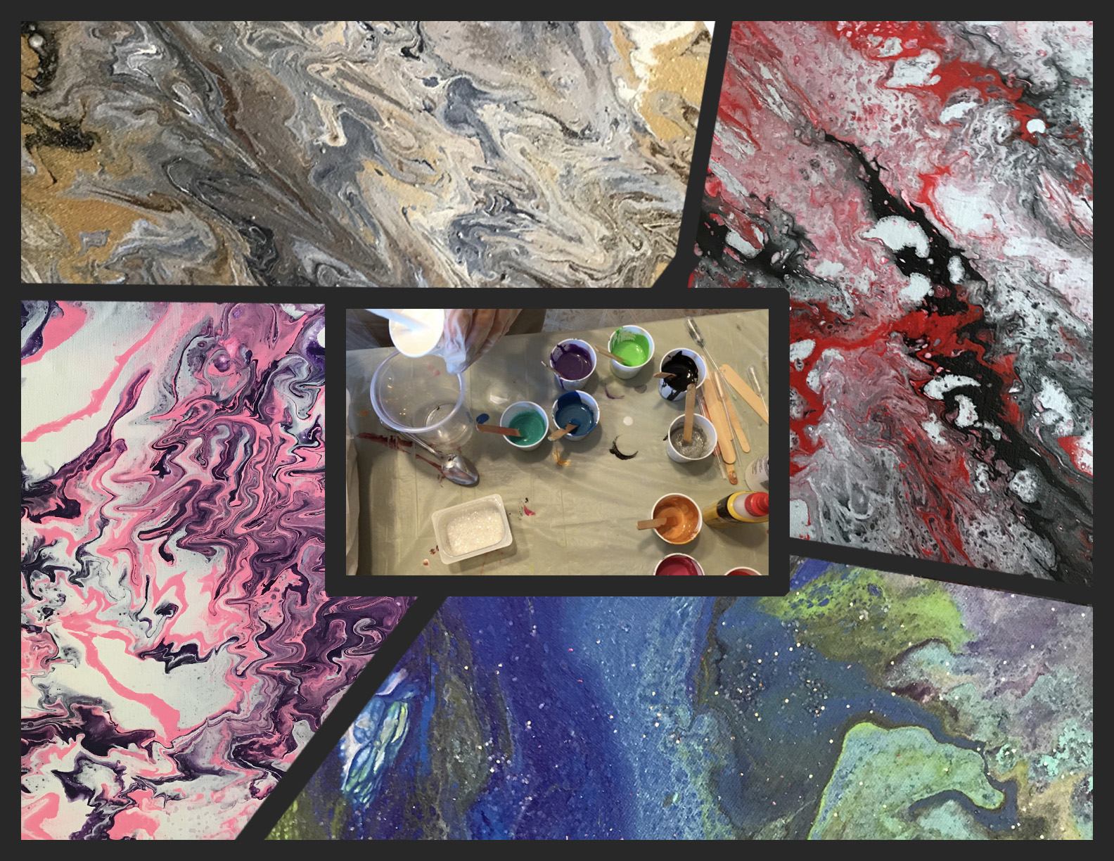 Sandy Laipply Acrylic Abstracts Collage